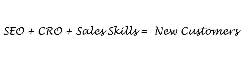 SEO CRO Sales Skills